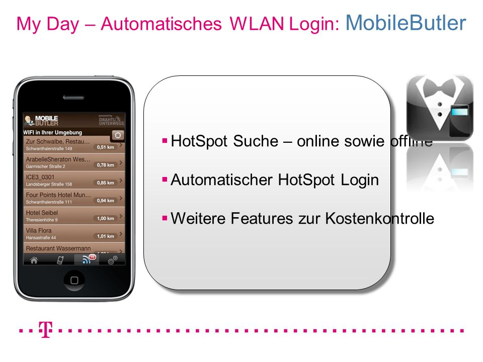 My Day – Automatisches WLAN Login: MobileButler