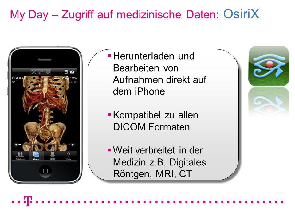 My Day – Zugriff auf medizinische Daten: OsiriX
