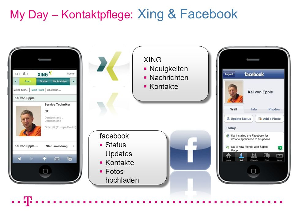 My Day – Kontaktpflege: Xing & Facebook