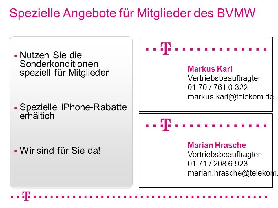 Spezielle Angebote für Mitglieder des BVMW