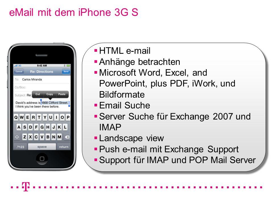 eMail mit dem iPhone 3G S HTML e-mail Anhänge betrachten