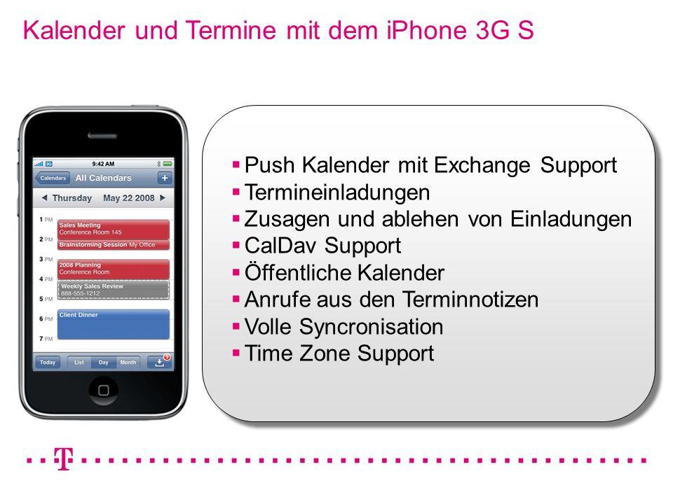 Kalender und Termine mit dem iPhone 3G S