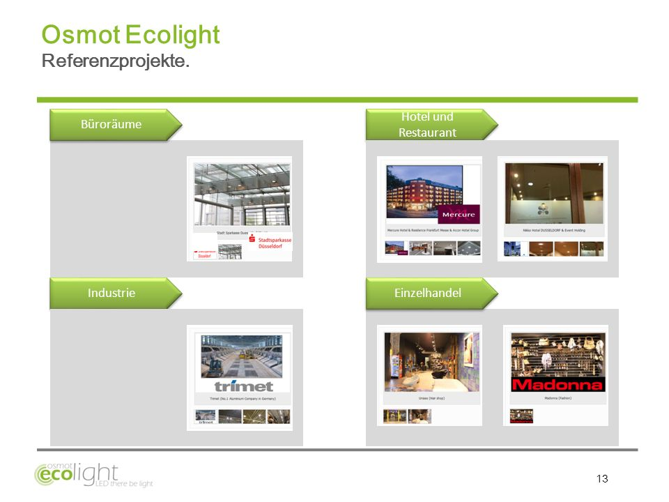 Osmot Ecolight Referenzprojekte.