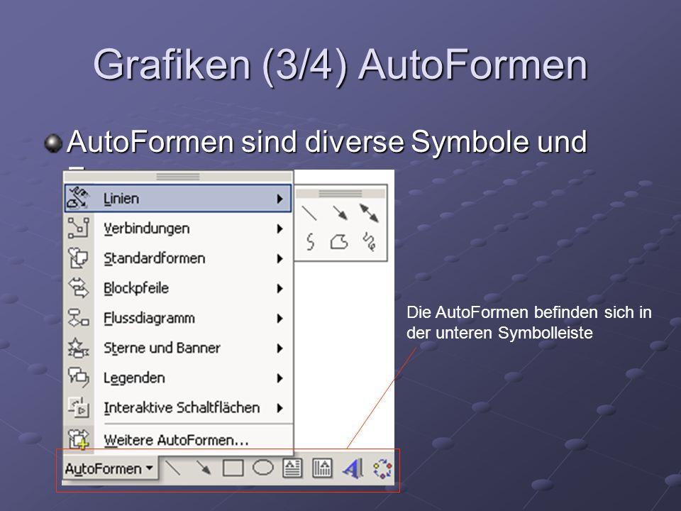 Grafiken (3/4) AutoFormen