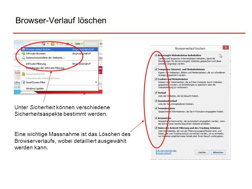 Browser-Verlauf löschen