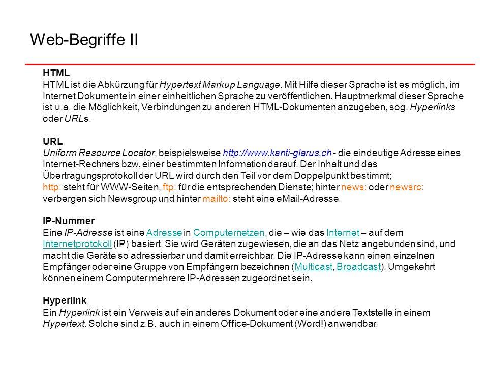 Web-Begriffe II
