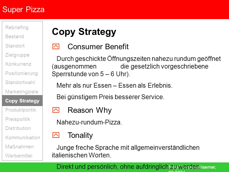 Copy Strategy  Consumer Benefit  Reason Why  Tonality