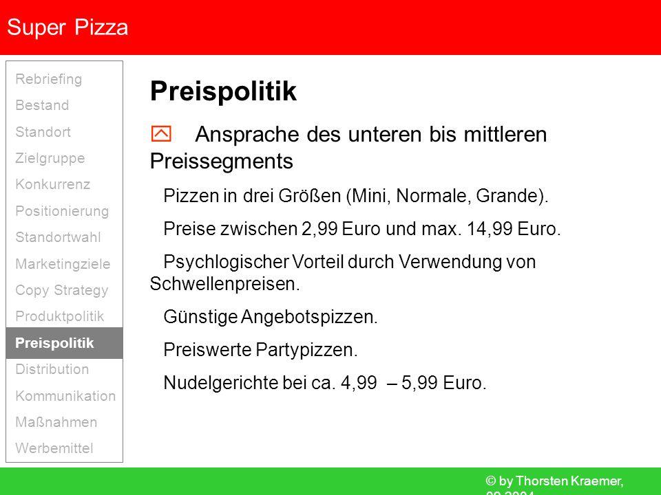 Preispolitik  Ansprache des unteren bis mittleren Preissegments