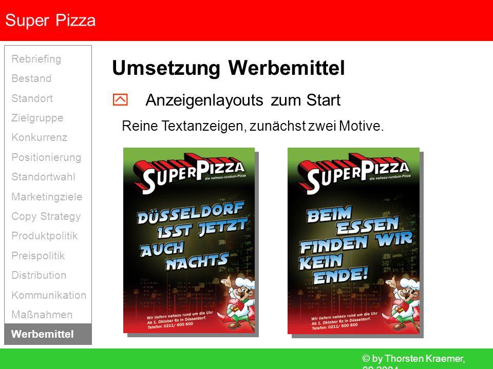 Umsetzung Werbemittel
