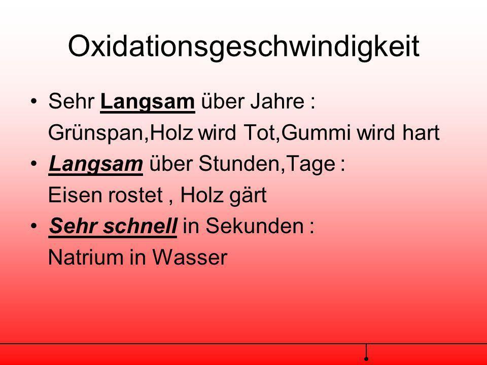 Oxidationsgeschwindigkeit