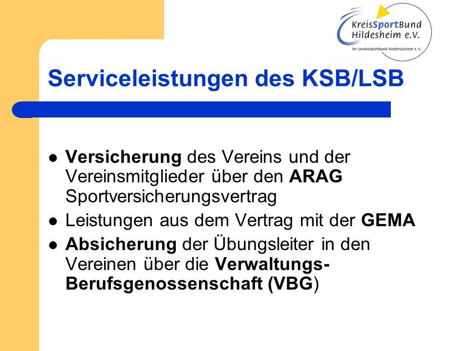 Serviceleistungen des KSB/LSB