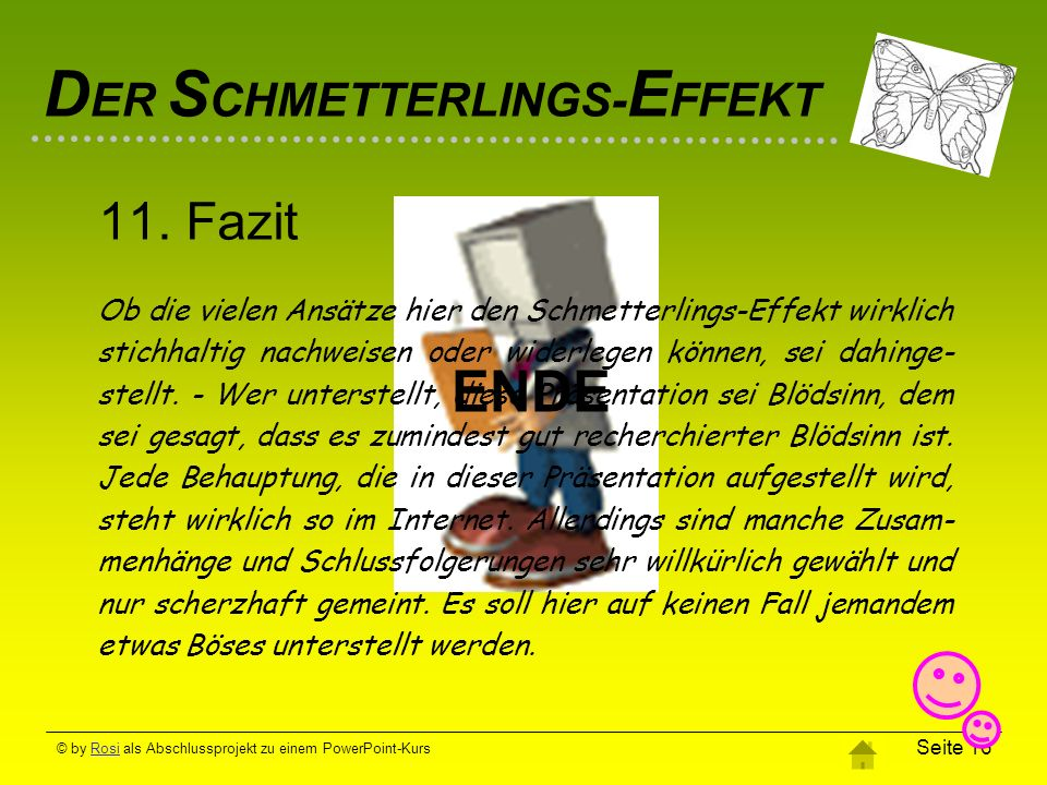 DER SCHMETTERLINGS-EFFEKT