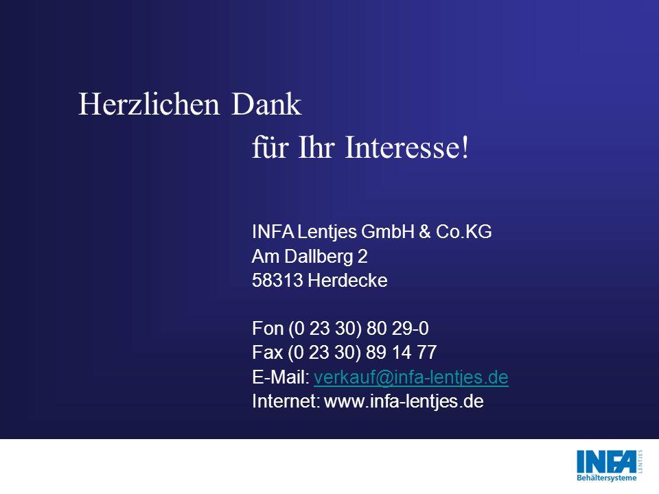 Herzlichen Dank für Ihr Interesse! INFA Lentjes GmbH & Co.KG