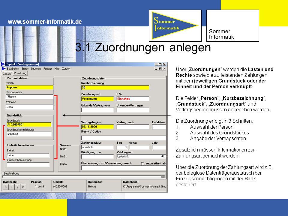 3.1 Zuordnungen anlegen www.sommer-informatik.de