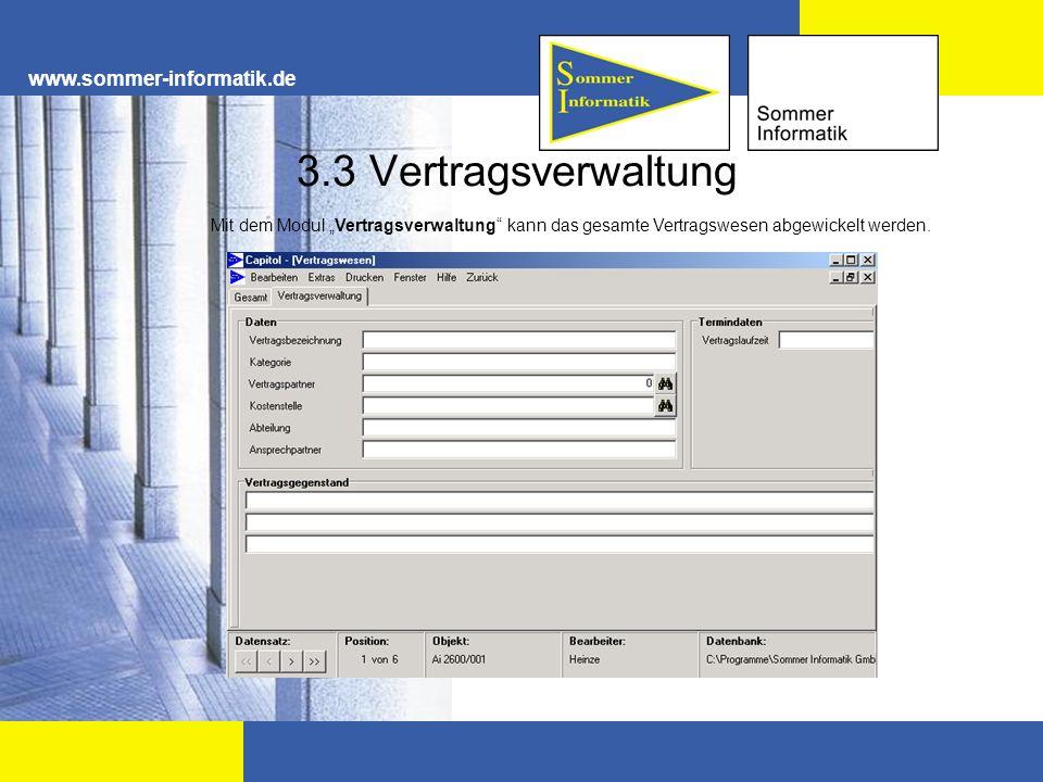 3.3 Vertragsverwaltung www.sommer-informatik.de