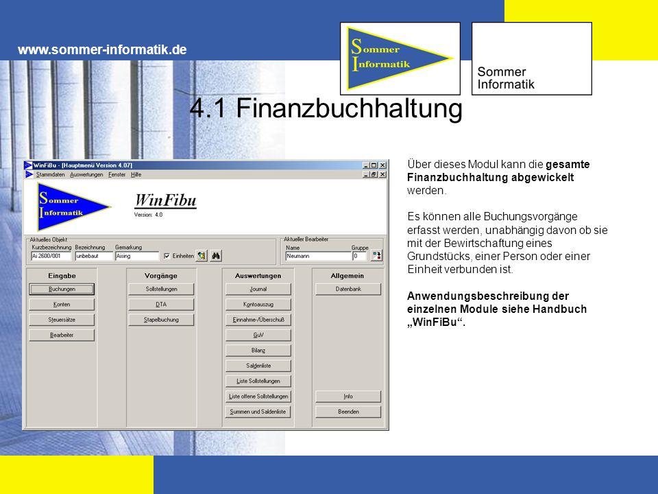 4.1 Finanzbuchhaltung www.sommer-informatik.de