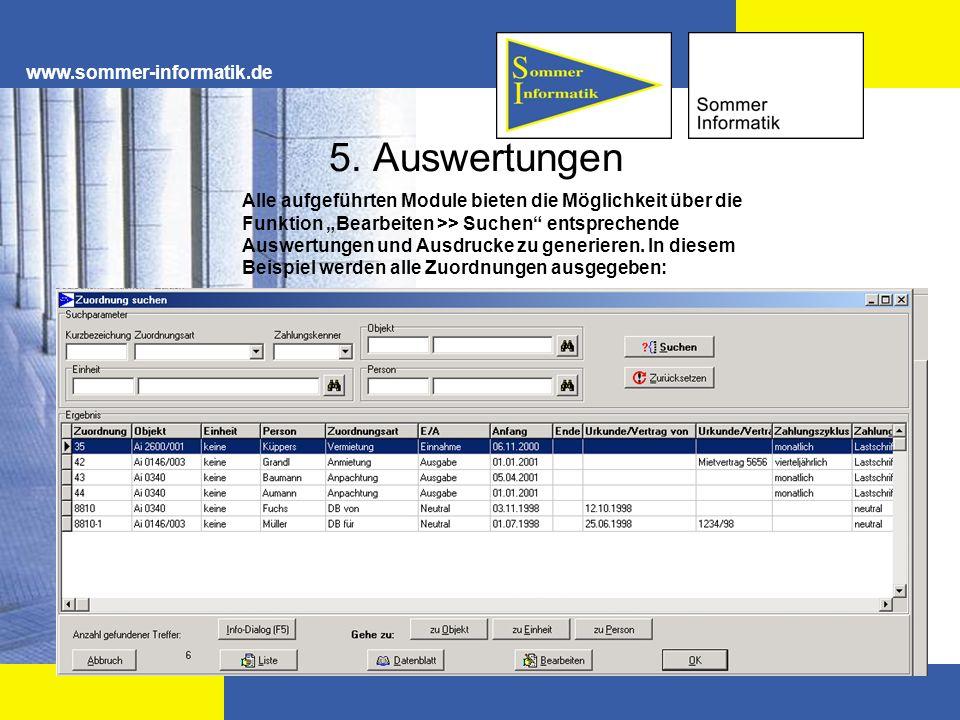 5. Auswertungen www.sommer-informatik.de