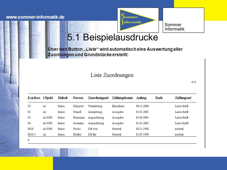 5.1 Beispielausdrucke www.sommer-informatik.de