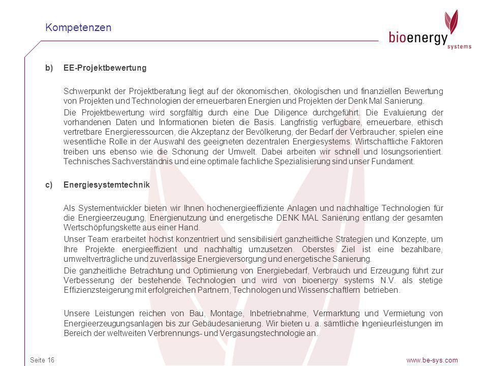 Kompetenzen EE-Projektbewertung