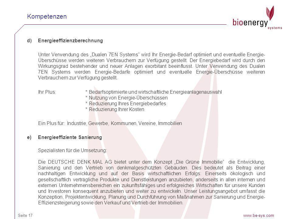 Kompetenzen Energieeffizienzberechnung