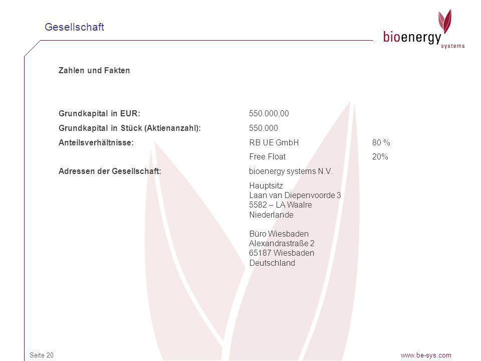 Gesellschaft Zahlen und Fakten Grundkapital in EUR: 550.000,00