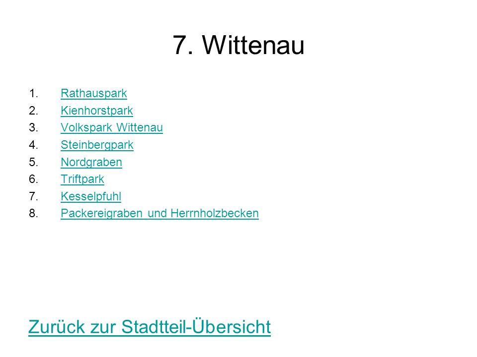 7. Wittenau Zurück zur Stadtteil-Übersicht Rathauspark Kienhorstpark