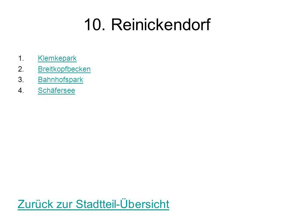 10. Reinickendorf Zurück zur Stadtteil-Übersicht Klemkepark