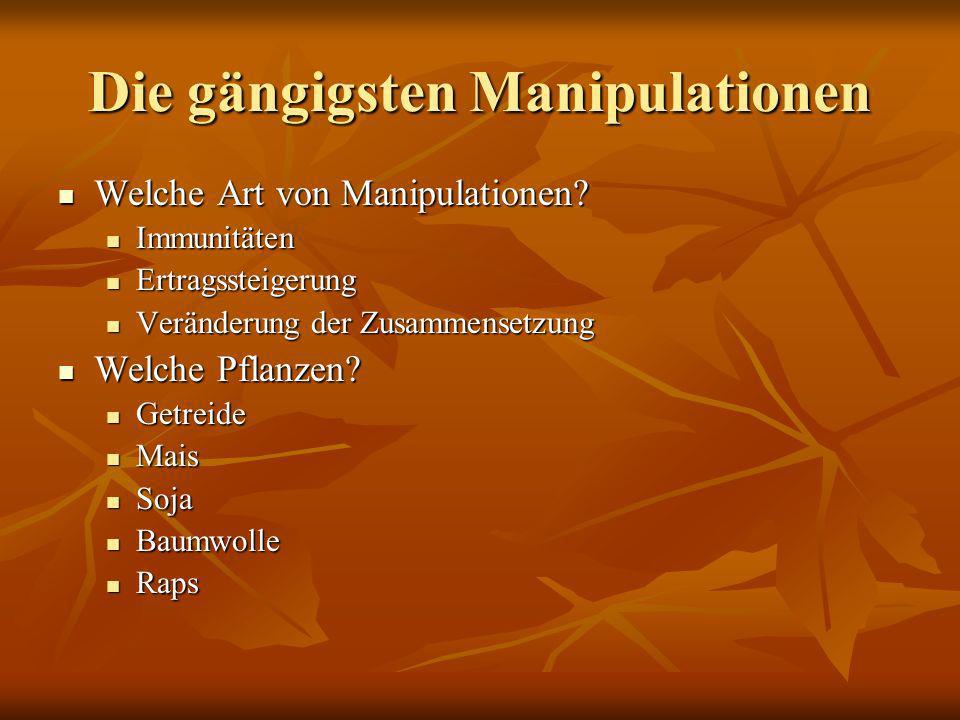 Die gängigsten Manipulationen