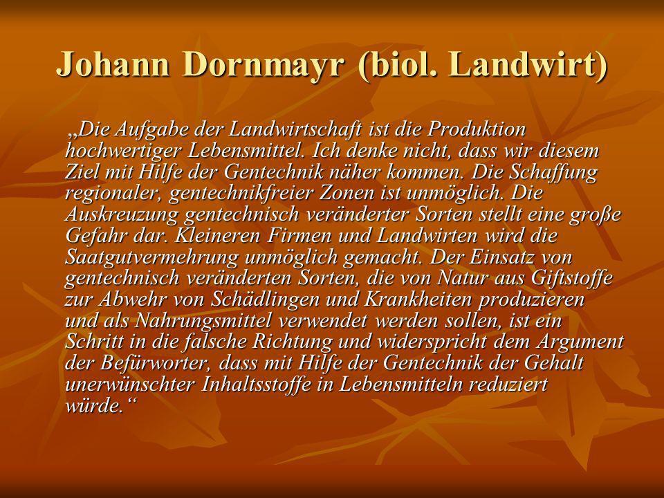 Johann Dornmayr (biol. Landwirt)