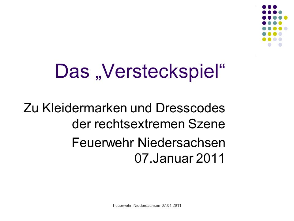 Feuerwehr Niedersachsen 07.01.2011