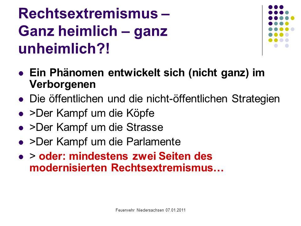 Rechtsextremismus – Ganz heimlich – ganz unheimlich !