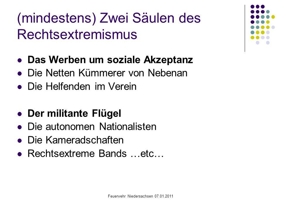 (mindestens) Zwei Säulen des Rechtsextremismus