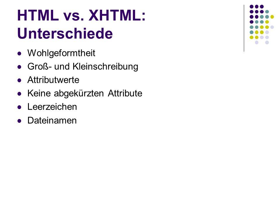 HTML vs. XHTML: Unterschiede