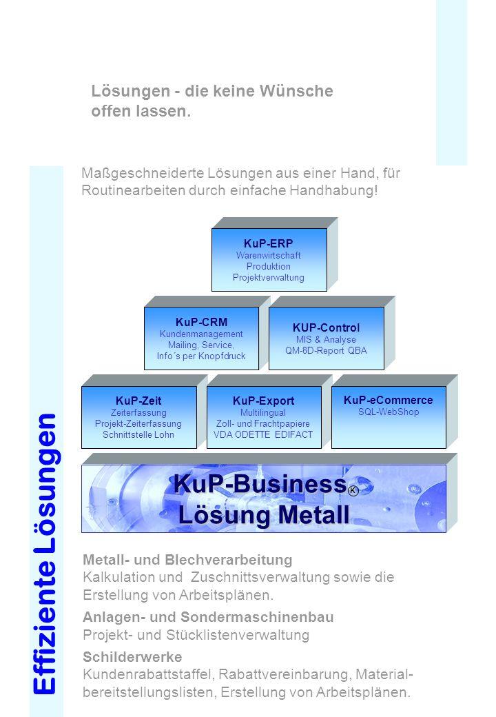 KUP-Business Lösungen KuP-Business Lösung Metall