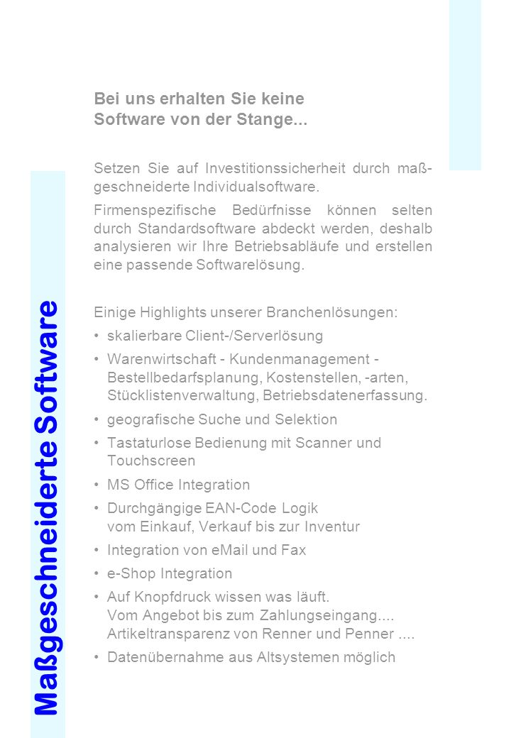 Maßgeschneiderte Software