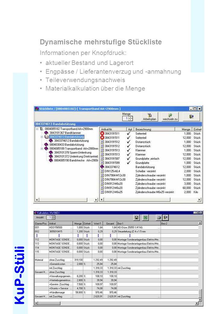 KuP-Stüli Dynamische mehrstufige Stückliste