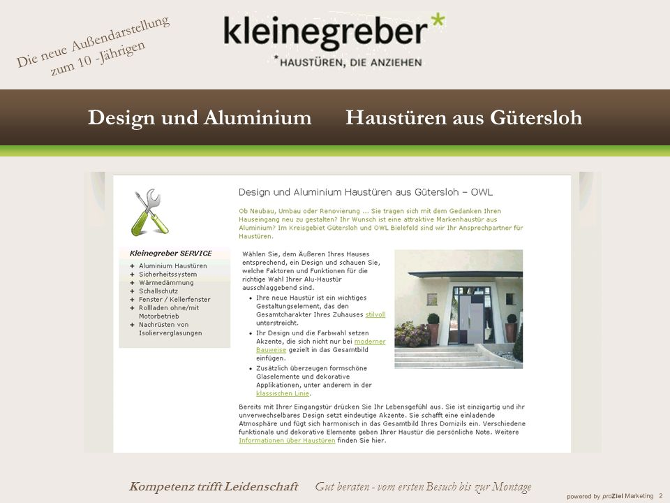 Design und Aluminium Haustüren aus Gütersloh
