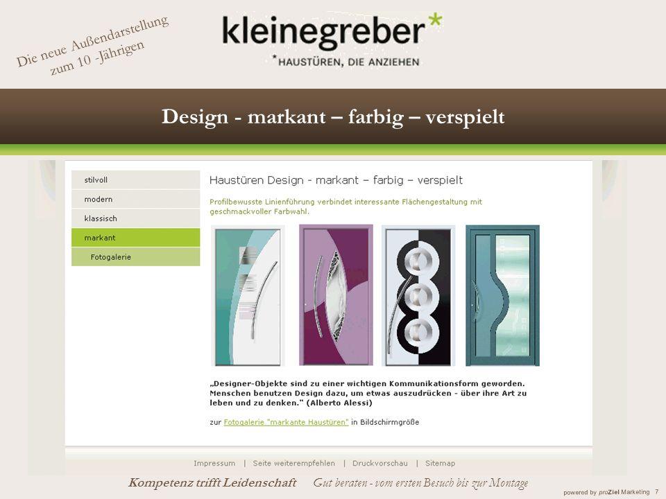 Design - markant – farbig – verspielt