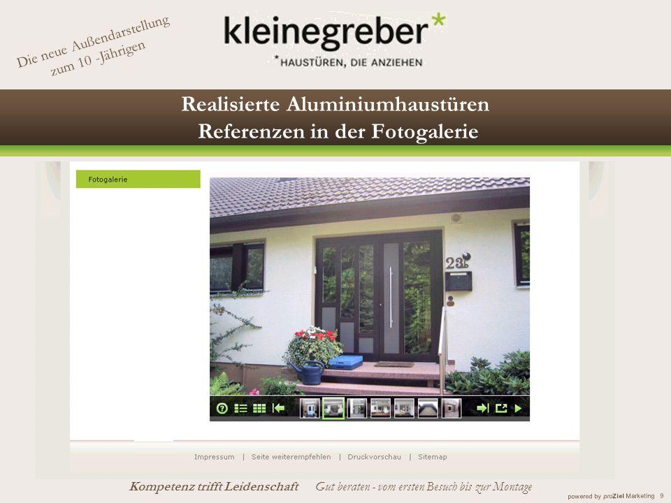 Realisierte Aluminiumhaustüren Referenzen in der Fotogalerie