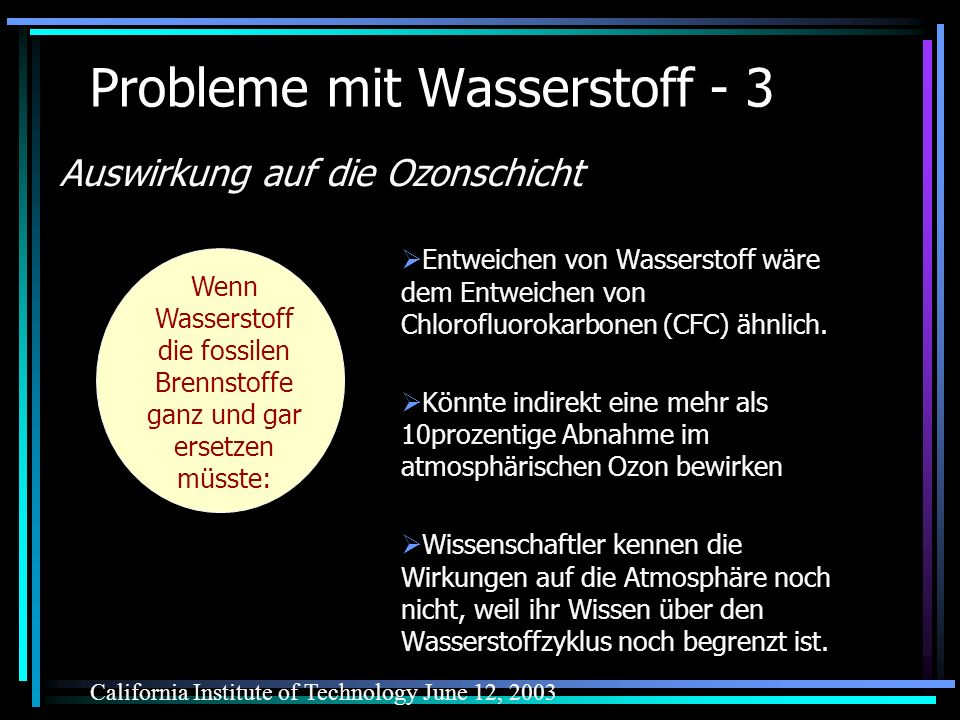 Probleme mit Wasserstoff - 3