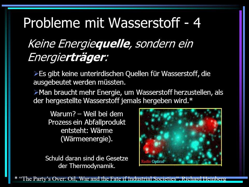 Probleme mit Wasserstoff - 4