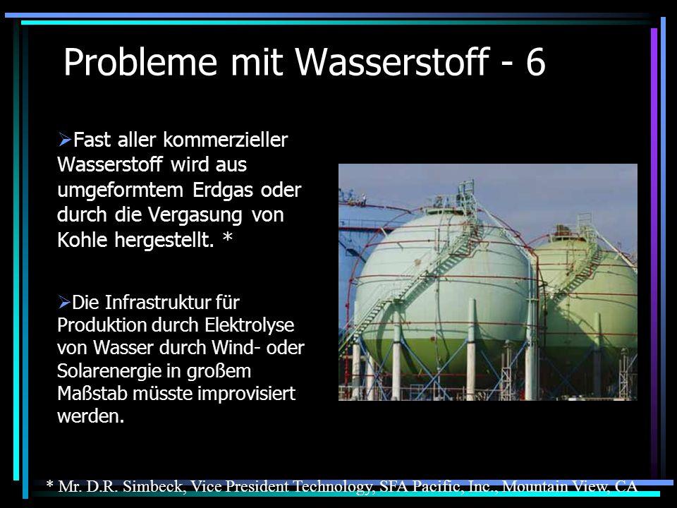Probleme mit Wasserstoff - 6