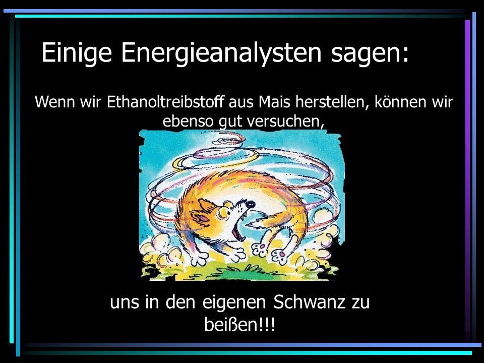 Einige Energieanalysten sagen: