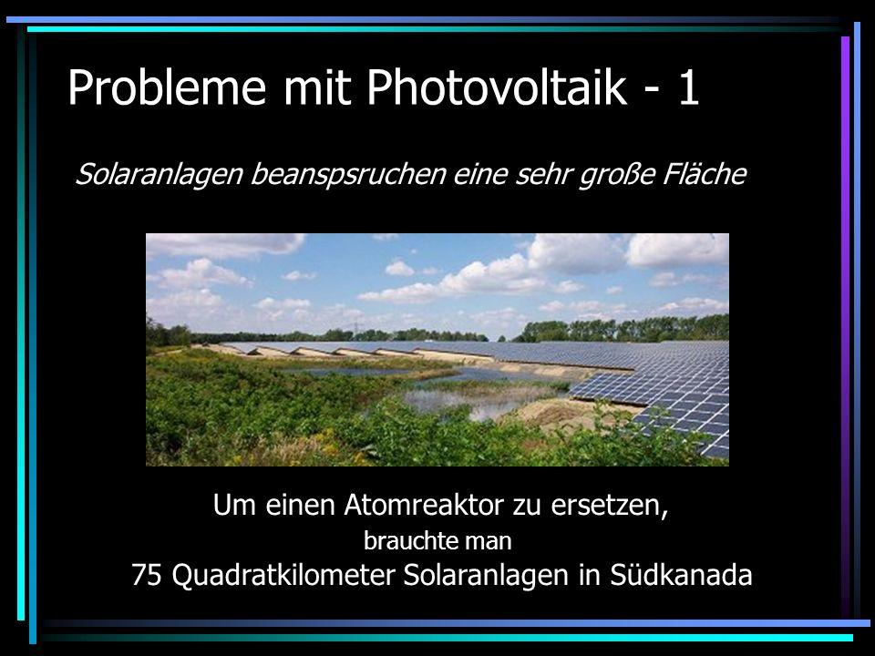 Probleme mit Photovoltaik - 1