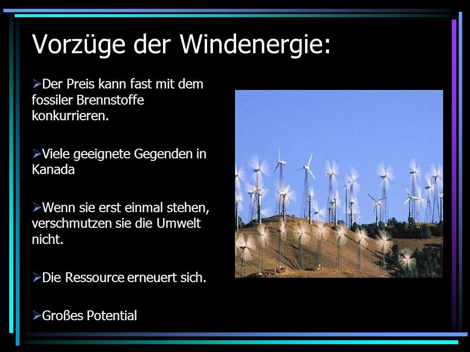Vorzüge der Windenergie: