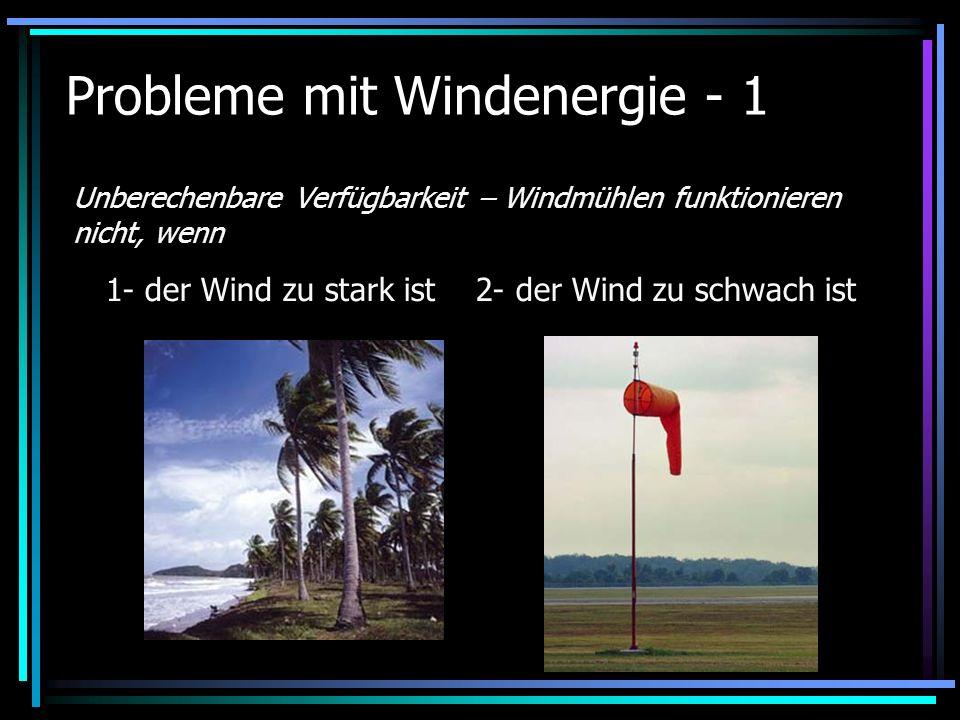 Probleme mit Windenergie - 1