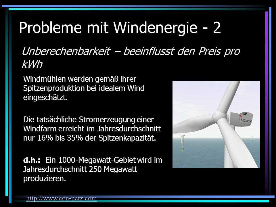 Probleme mit Windenergie - 2