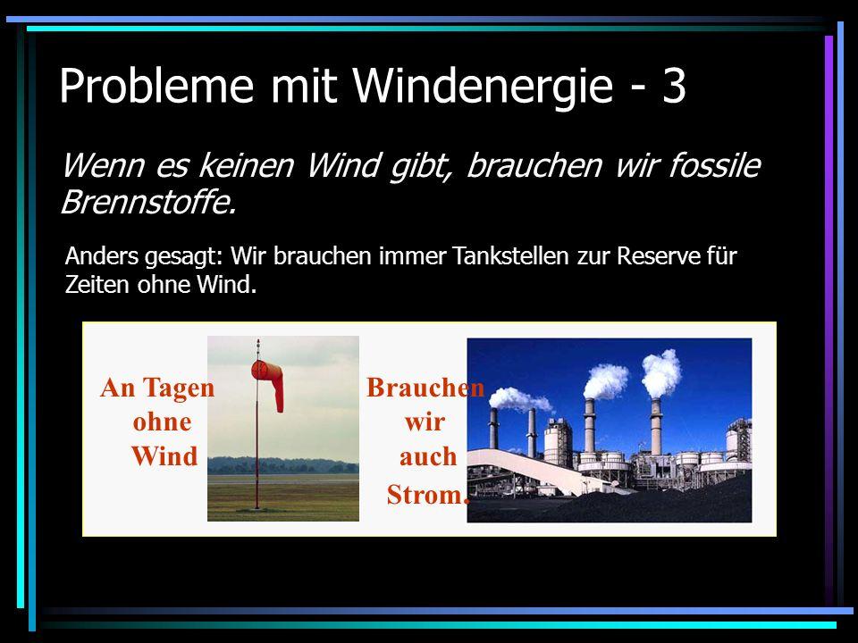 Probleme mit Windenergie - 3