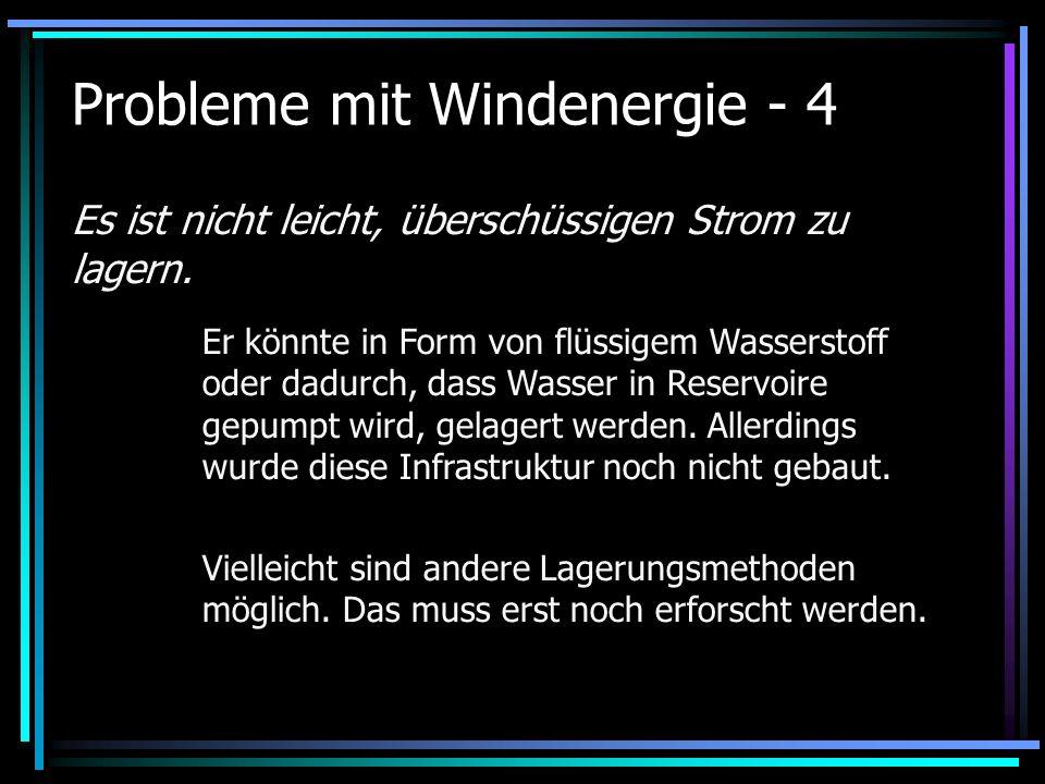 Probleme mit Windenergie - 4