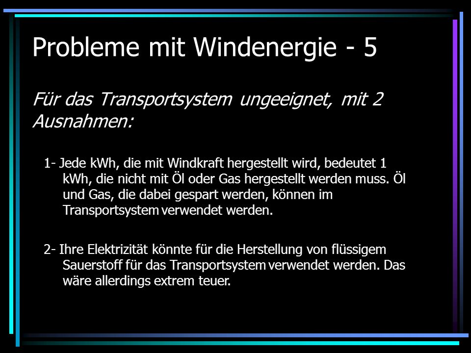 Probleme mit Windenergie - 5
